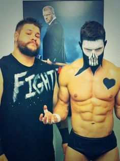 Kevin Owens on the left, Finn Balor on the right. 2 of the BEST indies wrestlers. Definitely gunna make a huge impact in the WWE