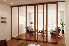 間仕切り「プレイスFX・引戸仕様」取付工事/横浜の間仕切り工事店 Japanese Modern, Types Of Doors, Blinds, Divider, Room, House, Furniture, Home Decor, Plastic