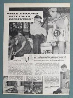 Original Farming Texaco Non Celebrity Endorsement  Ad Arthur Taylor Family Texas I just bought this on ebay!! This is my grandma, papa and uncle Johnny!!