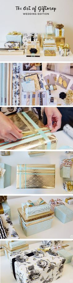 These gift wrapping ideas are perfect inspiration as you prepare to wrap your next wedding gift. If you follow the simple tutorials from Think.Make.Share, your gift will be beautiful, stand out and get noticed on any gift table.