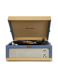 CR6234A-BT Crosley Dansette Junior Turntable, Record Player - Blue/Tan