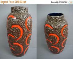 Fantastische Vintage Bodenvase (Vase) / Scheurich / Fat Lava / 553 52 | West Germany | WGP | 60er von ShabbRockRepublic auf Etsy