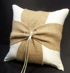 RUSTIC RING PILLOW Rustic Wedding Ring Pillow Country Rustic Ring