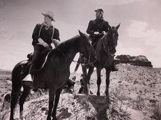 FORT APACHE clipping John Wayne & Henry Fonda cowboys B&W photo 1948 western #ClippingsPhotofromMagazine