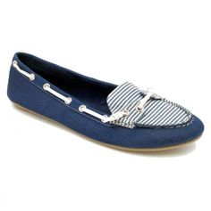 Nautical Denim & Stripes Boat Shoes <3