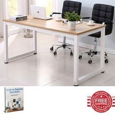 Modern Office Desk Ergonomic Elegant Space Saving Metal Frame Indoor Laptop Computer Multirole Work Furniture & Ebook by Easy 2 Find. Modern Office Desk is an Ergonomic Multipurpose Work Desk that will Help you Organize the Ideal Home or Office Working Environment. The High Quality Materials and the Beautiful Elegant Ergonomic Contemporary Design of the Modern Office Desk is the Perfect Furniture For the Job. Combine a Multirole Working Environment and Organize your PC Laptop Place with…