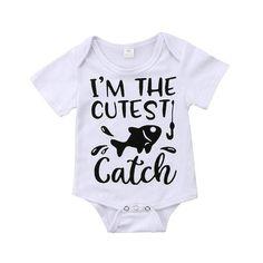 Newborn Baby Girls Bodysuit Short-Sleeve Onesie Sloth Running Team Lets Nap Print Jumpsuit Spring Pajamas
