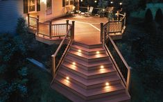 Photo gallery of Trex Deck Lighting installed on decks for design ideas and planning