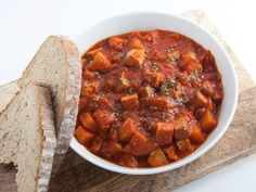 Recipe for a vegan Goulash with smoked tofu & potatoes. Perfect fall/winter food - very comforting and delicious. It practically cooks itself!