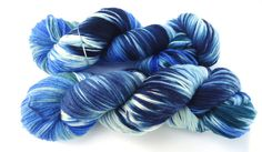 Hand painted Premium high twist sock yarn hand dyed: At the
