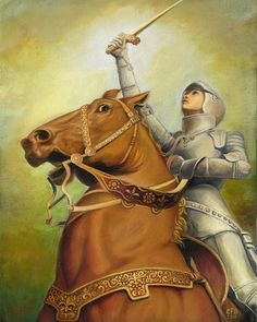 I pray that bit is not real, poor horse...  Joan of Arc  The Maid of Orléans  8x10 Print by EmilyBalivet, $15.00
