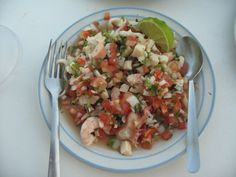 Ceviche from La Tarraya - Calle 2 Norte at the beach. Great fresh Seafood. One of Playa Del Carmen's oldest restaurants.