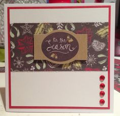 Craftwork Cards Festive Chalkboard : Tis the season