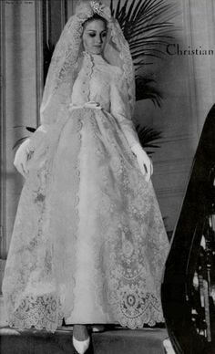 Wedding dress by Christian Dior, 1964