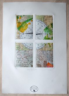 Carte saison 4: un carte collage by Nancy Patton Wilson