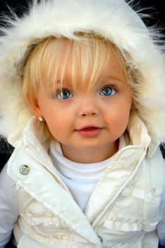 My babies will never look like this with both parents having dark hair and eyes but I wish they would!!! <3