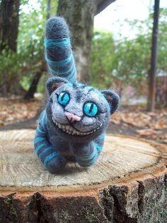 Cheshire cat by HandmadeByNovember on Etsy