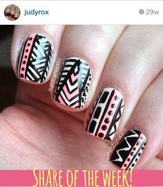Cute nail design found on Instagram