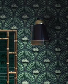 Our iconic Deco Martini print in 'Arsenic'.  Add this rich green to your interiors.