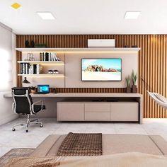 Room Design Bedroom, Bedroom Furniture Design, Home Room Design, Home Bedroom, Modern Bedroom, Living Room Designs, Home Office Setup, Home Office Space, Living Room Tv Unit