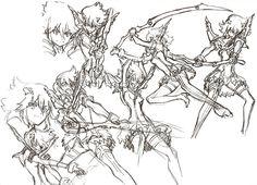 All the Senketsu Ryuko designs from The Art of KlK Vol 2, by Sushio, Imaishi and Yoshinari.