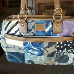 Medium size Coach purse Good shape. Straps have some wear. Please see pictures. Coach Bags Shoulder Bags