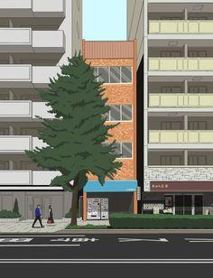 Japan. Asakusa I think. Illustrated by Symon Mcvilly @symonism Symonmcvilly.com