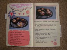 handwritten recipe book