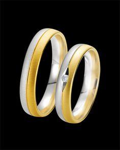 Βέρες Breuning δίχρωμες χρυσός-λευκόχρυσος Κ9 με Διαμάντι Rings For Men, Wedding Rings, Engagement Rings, Jewelry, Rings For Engagement, Men Rings, Jewlery, Jewels, Commitment Rings