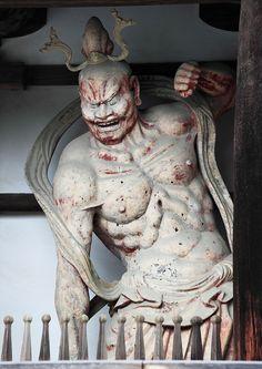 Deva King, Guardian God at Horyu-ji, Nara, Japan