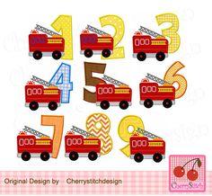 Firetruck Embroidered Iron On Patch Fireman Boys Girls Kids  Truck 144-U