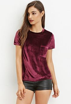 Velvet Pocket Top | Forever 21 - 2000147335 I love that this is coming back in a classy way!