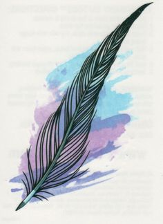 ✭ SEXY BLACK FEATHER COLORFUL BACKGROUND TEMPORARY TATTOO ✭ MADE IN THE USA