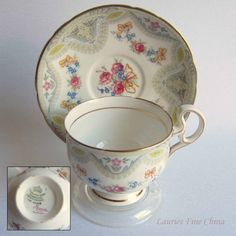 Free Shipping Melba BROCADE Bone China Tea Cup by LauriesFineChina