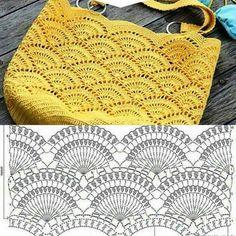 Com - Best 10 Purse bag crochet pattern salvabrani – Artofit – SkillOfKing. Mode Crochet, Bag Crochet, Crochet Shell Stitch, Crochet Clutch, Crochet Handbags, Crochet Purses, Crochet Stitches, Crochet Collar, Crochet Diagram