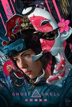 Ghost in the Shell poster/fan art by RUIZ BURGOS