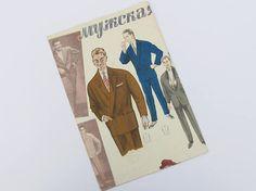 Vintage Men's Fashion Poster 50's 60's Retro