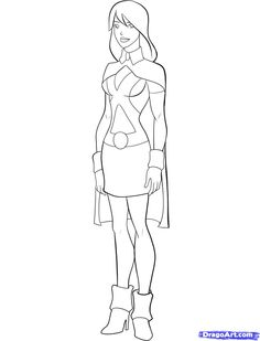 Young Justice Miss Martian How To Draw