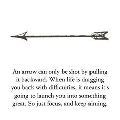 Meaning of an arrow- I've had a thing for arrows, and now even more so:)