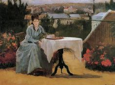 Afternoon Tea 1875 - Eva Gonzales - (French: 1849-1883)