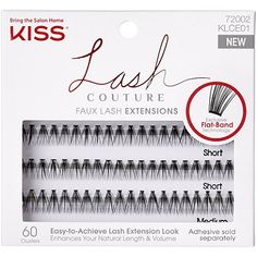 KISS Lash Couture Faux Lash Extensions, Venus extension clusters come in both short and medium length strands for a customized lash extension look. Faux Lashes, Fake Eyelashes, Individual Lashes, Lash Glue, Beauty Awards, Natural Lashes, Guys Be Like, Eyelash Extensions, How To Apply