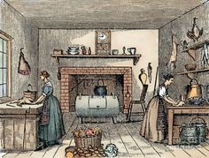 Kitchen, 19th Century Kitchen  - Kitchen, 19th Century Fine Art Print