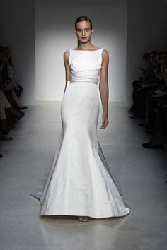 Top Ten: Fit + Flare Silhouettes from the 2013 Wedding Runway :  wedding bridal market 2013 wedding dress 25223 Amsale S13 434 1351200172 974