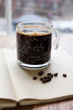 Fill this mug with your favorite French roast or Mocha Java and savor the familiar intricacies of the coffee molecules as you savor the familiar intricacies of the coffee molecules. Each mug contains