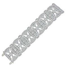 Art Deco Platinum Diamond Bracelet