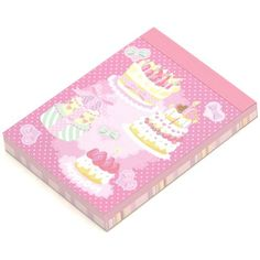 pink cake mini Memo Pad ribbons hearts 2  For quick to do list @modes4u