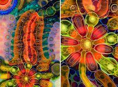 Les créations psychédéliques en peinture et résine de Bruce Riley art psychedelique en peinture et resine par bruce riley 9