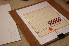 Multiplication - skip counting and Montessori materials