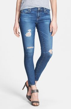 These AG ankle jeans are so easy to wear, day or night! They're the go-to for girls' night out.