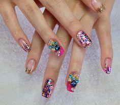 bling bling by Melinailfreak - Nail Art Gallery nailartgallery.nailsmag.com by Nails Magazine www.nailsmag.com #nailart